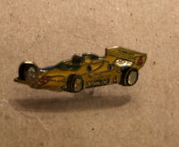 Vintage Pennzoil Indy Car Lapel Pin Enamel Yellow