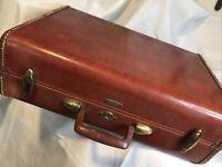 Vintage Brown Hard Case Samsonite 1950s Luggage, style 4932