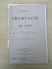 Revue de Champagne et de Brie mai 1878,Dinteville,Le Tellier,Troyes, Huiron