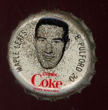 1964-65 COCA-COLA COKE BOTTLE CAP WITH CORK Bob Pulford  TORONTO MAPLE LEAFS