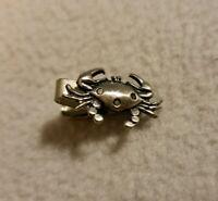 Silver Crab Tie Bar Clip Clasp Tack Nautical Sea Life Salt CC Stamp