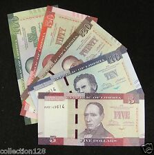 Liberia Banknote 5 10 20 50 100 Dollars 2016 UNC