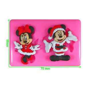 Disney Christmas Mickey & Minnie Santa Claus Silicone Mould by Fairie Blessings