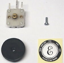 RARE - AM DIAL KNOB miniature variable tuning PV capacitor transistor radio cap