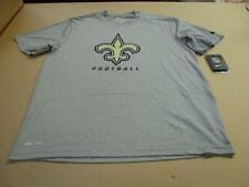 New Orleans Saints Men's Logo  NFL Football Nike Dri Fit T-Shirt Gray Medium New