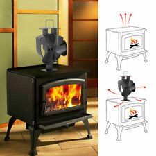 Wood Heater Eco Fan Stove 3 Blades Fireplace Fire Heat Powered Circulating 3w