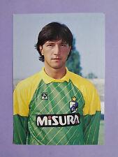 PHOTO CARTOLINA UFFICIALE POSTCARD SOCCER INTER ZENGA 1986-87 MISURA NEW-FIO