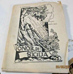 ONOR DI SICILIA di G. BORTONE dis. J. VAN BIESBROECK - ED. BIONDO PALERMO 1919