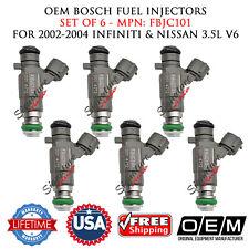 Set of 6 OEM Bosch Fuel Injectors for 2002-2008 Infiniti & Nissan 3.5L #FBJC101