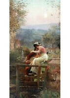 Victorian Trading Co. Reconciliation Woman & Man in Garden Card Set of 6