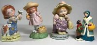 """Collectible Vintage AVON Assorted Mixed Lot of 4 Porcelain Dolls 3""""-4"""" 80's"""