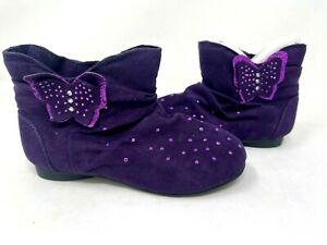 Canyon River Blues Toddler Girl's Frannie Fashion Ankle Boots Purple #2626 72X r