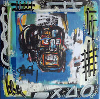 110M basquiat TABLEAU pop street art french painting canvas signed PyB