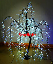 4ft LED Willow Weeping Tree Christmas Light Home Wedding Decor 480pcs LEDs White
