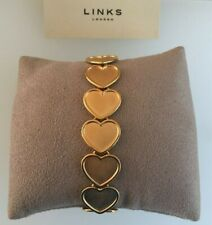 Links of London Endless Love Medium Heart Bracelet 18ct Yellow Gold Vermeil