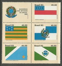 Il Brasile. 1982. stato BANDIERE (2a serie) Set. SG: 1988a MINT NEVER Hinged.