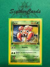 NM Randnrn 1st Edition Dschungel Pokemon Karte + Hülle & Toploader, Englisch 59/64