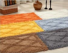 100% Cotton Bath Mat Rug Set Bathroom Shower Reversible Mats Floor Waffle Weave