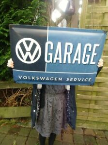 VW GARAGE Volkswagen EXTRA LARGE Wall Sign - over 23 inches -  Made in Germany