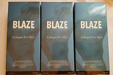 3 X Blaze Cologne For Men Impression of Abercrombie & Fitch Fierce 3.3 Oz NIB