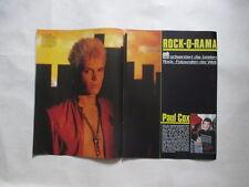 Paul Cox Billy Idol Bananarama Soft Cell ABC Genesis Collins clippings Germany