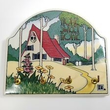 Mary Engelbreit Home Sweet Home Cottage Key Holder Organizer Plaque Ceramic Tile