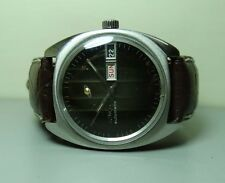 Vintage Enicar Automatic Day Date Swiss Mens Wrist Watch g292 Used Antique Old