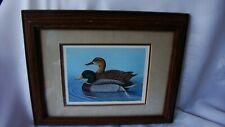 "Mallard Duck Framed Picture 9-1/2"" x 7-1/2"" Daniel F. Heuer"