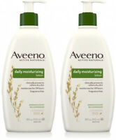 2 Pack Aveeno Active Naturals Daily Moisturizing Lotion With Oat For Dry 18oz