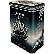 Harley Davidson Aromadose mit Bügelverschluss Vorratsdose Hoard Box Metall,New