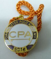 CIRENCESTER POLO ACADEMY 2016 CPA ENAMEL Badge with Cord