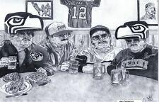 Seattle Seahawks 'DA HAWKS' Super Fans sketch art drawing picture