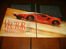 1991 VECTOR 625 HP SUPERCAR  ***ORIGINAL ARTICLE / ROAD TEST***