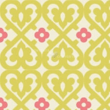 Indian Summer Green Damask by Zoe Pearn for Riley Blake, 1/2 yard cotton fabric