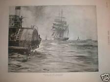 Bound to the West'ard Frank Brangwyn sea print 1891
