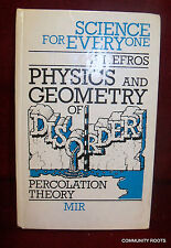 Science For Everyone Physics and Geometry of Percolation Theory A.L. Efros MIR