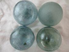 4 VINTAGE Japanese Glass Floats with Jillions of Bubbles  Alaska BeachCombed