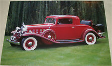 1932 Cadillac Coupe car print (red)