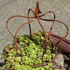 Dekokrone Vasto aus Metall Gartenkrone Metallkrone Rostkrone Pflanzkrone