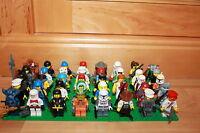 Lego City - 10 Figuren Star Wars, Alien, City, Polizei, Ninjago, Ritter, Piraten