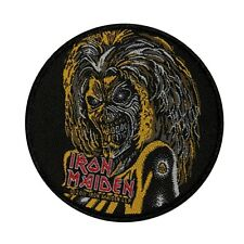 """Iron Maiden"" Classic Eddie the Head Mascot Logo Metal Sew On Applique Patch"