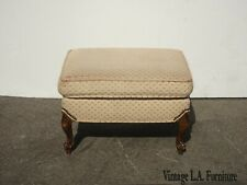 Vintage French Country Pink Bench Footstool Farmhouse Chic As-Is