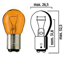 10 Flosser 522907 12V 21/5W Dual Function Natural Amber Turn Signal Bulbs 1157NA