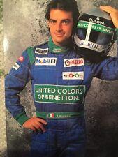 Alessandro Nannini Benetton Formula 1 1990 Authentic Helmet ands Sparco Suit