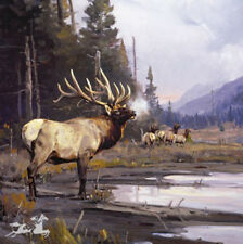 Lord Of Trinchera by Luke Frazier Bull Elk Landscape SN LE Wildlife Lithograph