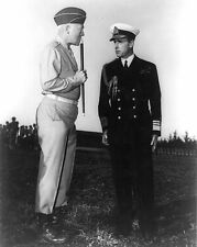 New 8x10 World War II Photo: George Patton & Vice Admiral Lord Louis Mountbatten