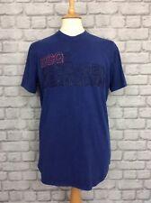 DSQUARED2 UK XL MENS LOGO BLUE TSHIRT TEE T-SHIRT CASUAL DESIGNER RRP £165 DSQ2