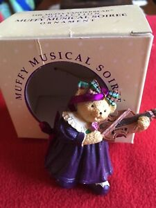 MUSICAL SOIREE Muffy VanderBear Christmas Tree ORNAMENT Retired Holiday Collect