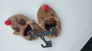 Holiday Times Babies Reindeer Soft Brown slipper shoe