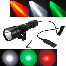 Tactical Red/Green/White T6/Q5 Hunting Hog Pig LED Flashlight Torch 18650 Mount